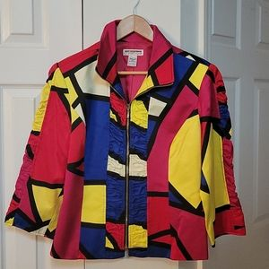 MISHCA VTG 80s colorful jacket LIKE NEW!